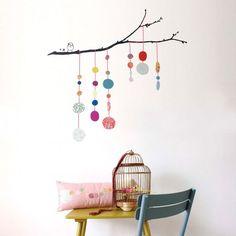 Stickers Fils de perle Mimilou - Decoration murale chambre en solde chez Pure Deco