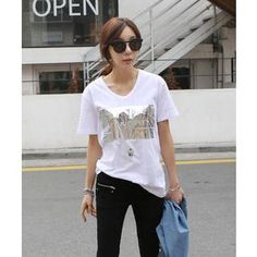 Buy 'DANI LOVE – Foil Print T-Shirt' with Free International Shipping at YesStyle.com. Browse and shop for thousands of Asian fashion items from South Korea and more!