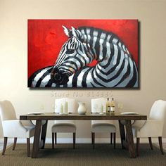 Modern Art Canvas Painting Texture 100% Hand painted Zebra Abstract Oil Painting On Canvas Wall Art Gift Home Decoration CT063