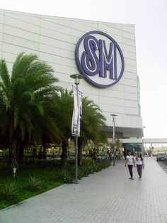 A peek of M.O.A. short for SM Mall of Asia. It is one of the largest malls in Manila, Philippines.