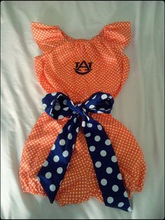 Gorgeous Auburn Tigers polka dot romper.  $28