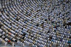 Thousands of Muslims in prayer to something that will never answer. Does you're heart break yet? Pray today.