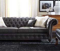Cheap Sofas The Mansfield sofa exudes elegance with its deep diamond tufts crafted for pure fort