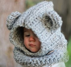 The Lil Cub Cowl will be a true staple in your little ones wardrobe come the winter months. Its crocheted from an ultra thick cozy yarn. Securely