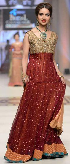 #UzmaBabar Telenor #BridalCoutureWeek 2014 Shehnai Collection #BridalDresses #WeddingDresses #PakistaniDresses