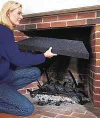 fireplace insulating plug stop your chimney from stealing heat rh pinterest com