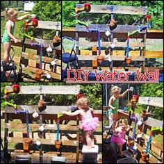 Diy outdoor games for toddlers water walls 57 Ideas Outdoor Play Spaces, Outdoor Fun, Water Activities, Outdoor Activities, Summer Activities, Outdoor Games For Toddlers, Family Day Care, Backyard Playground, Natural Playground
