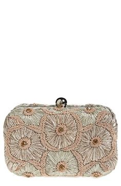 Women's Natasha Couture Floral Embroidery Clutch - Pink
