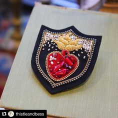 #Repost @thistleandbess (@get_repost) ・・・ We have so much fun at T&B finding gorgeous and unusual gifts that you won't find at many other places. Let us help you find something for that person on your list you has everything! Hand embroidered heart brooch by Japanese artist and shop favorite, @zoomy ❤️ #shoplocal #shopsmall #handmade #madeinjapan #annarbor #kerrytown #azumisakata #坂田あづみ #刺繍ブローチ