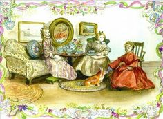 Tea time; Tasha Tudor