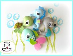 Splash-Sea Animals set of Four-PDF sewing