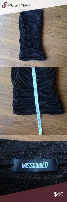 """Missguided tube dress *read* black copper Bodycon Awesome misguided tube Strapless dress! Missing size tag. Measurements when laying flat: bust 10"""", length 26"""". Micro mini bodycon dress. Material has some stretch to it. Missguided Dresses Mini"""