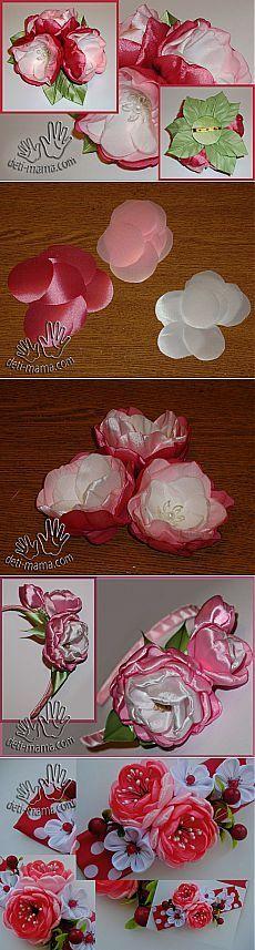 Flores con las manos de los tejidos. rosa mosqueta | Revista para las madres y los niños