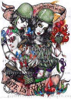 LOVE is WAR by glittersniffer on deviantART