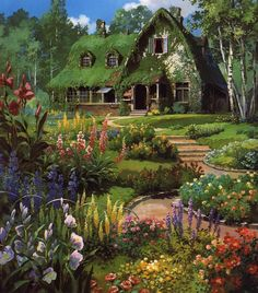 Quiet little home in the middle of a beautiful garden, dogs running, birds singing Oh wouldn't that be the perfect place.