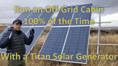 See how I power our family cabin off-grid with nothing but the Titan solar generator and solar panels. Originally we had a Titan 500 system running the . Inverter Generator, Solar Inverter, Solar Generator, Generators, Off Grid Cabin, Solar Installation, Off The Grid, Van Life, Science And Technology