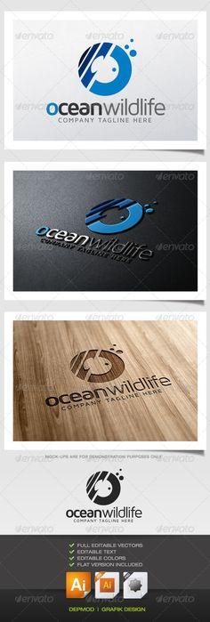 Ocean Wildlife Logo - Symbols Logo Templates