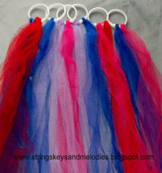 shower curtain rings and long flowing fabric - simple enough