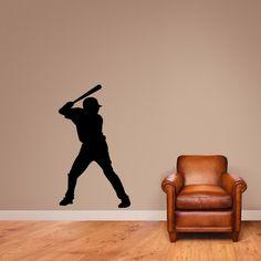 Baseball Batter Silhouette Wall Decal