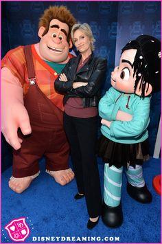 """Jane Lynch At Disney's """"Wreck-It Ralph"""" Movie Premiere Disney Cartoons, Disney Movies, Disney Characters, Fictional Characters, Wreck It Ralph Movie, Jane Lynch, Disney Cast Member, Vanellope Von Schweetz, Disney Fanatic"""