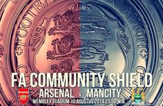 The two champions of the Domestic clubs Manchester City and Arsenal will go head to head in Community Shield 2014 at Wembley Stadium. The match will Kick-off at 3pm BST