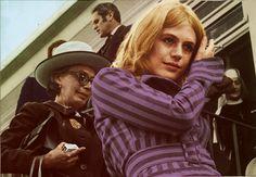 "faithfullforever: ""Marianne Faithfull at the airport after being released from Mount St. Margaret Hospital, Sydney | 1969 | Colourised by Faithfull Forever """