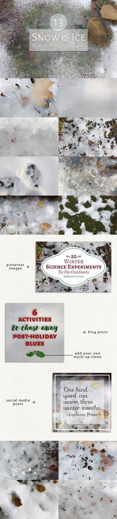 13 Snow and Ice Backgrounds