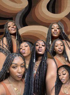 Baddie Hairstyles, Black Girls Hairstyles, Braided Hairstyles, Beautiful Black Girl, Pretty Black Girls, Pelo Natural, Brown Skin Girls, Black Girl Aesthetic, Girls Braids