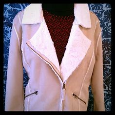 Friday's SALE  Lucky ♧ Brand Jacket ♡ Super soft and comfortable jacket. This has never been worn, except to try on. This has the look of authentic, soft suede but the body tag reads 100% polyester. Super  soft fur lining with two side zipper pockets  Beautiful piece for winter or fall. Lucky Brand Jackets & Coats