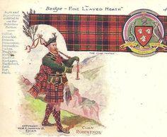 Clan ROBERTSON Unused UDB Antique Postcard Badge by TheOldBarnDoor