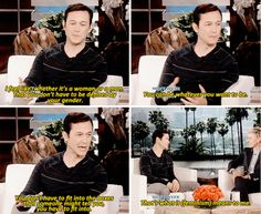 And Joseph Gordon-Levitt agreed. | 33 Times Celebrities Stood Up For Feminism In…