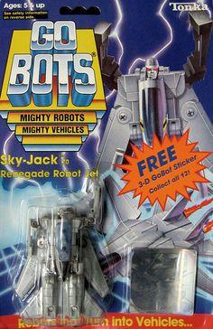 gobots sky jack   gobots sky jack transforming robot tonka sold $ 45 00