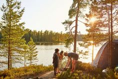 Most of Sweden's open space remains essentially untouched, and the Right of Public Access means that people are free to roam the forests, camping, fishing or picking berries and mushrooms. Spending time in nature is an essential part of the Swedish lifestyle. Photographer / Credits Clive Tompsett/imagebank.sweden.se