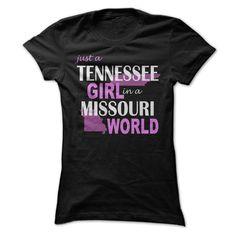 (Top Tshirt Sale) Tennessee Girl in Missouri at Tshirt Best Selling Hoodies, Funny Tee Shirts