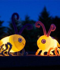 Summer Craft Idea: Light-Up Fireflies using Easter Eggs