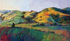 Paso Robles California Landscape Impressionism Original Oil Painting Erin Hanson 60x36