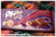 ドイツお土産 milkaのチョコ  zartherb(ビター)味
