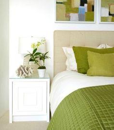Green + White Bedroom