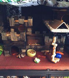 Diy - Wooden castle for pet rats - dyed w/ foodcolours
