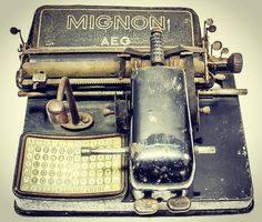 """Ever seen an #Antique """"MIGNON"""" #Typewriter before?  Up for #auction in Barcelona Spain! >> http://ift.tt/20WPyYf by eclecticantiquing"""