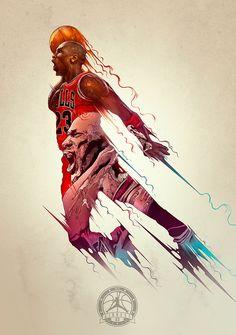 #Digital Art  //Michael Jordan by Raul Urias, Raul Manriquez and SKINPOP Studio