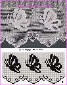 Free Crochet Doily Patterns, Crochet Lace Edging, Crochet Borders, Thread Crochet, Crochet Doilies, Crochet Stitches, Cross Stitch Patterns, Filet Crochet, Irish Crochet