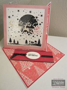 Shaker Twisted Easel Card - Crafters Companion Create a Card Christmas Die - Over the Rooftops