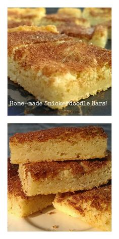 Home-made Snickerdoodle Cookie Bars! – The Baking ChocolaTess