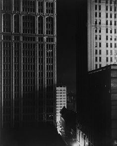 Edward Steichen, Sunday Night, 40th St. New York, 1925. The naked city, thank you, wonderfulambiguity.