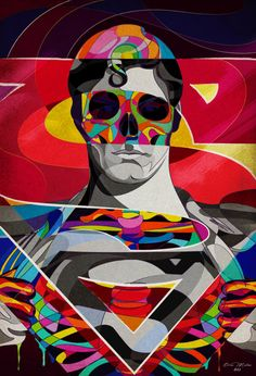 """SUPERMAN Skull Art """"THE ICON"""" by Omar Luces"""