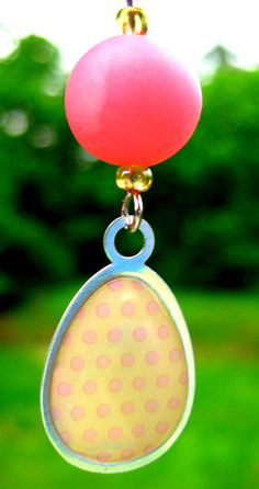 Polka Pink Beaded Polymer Clay Earrings - Fashion Accessory Gift