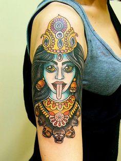 Kali -- Hindu goddess of death & destruction (a devi of Shiva, god of destruction and thematically rebirth)