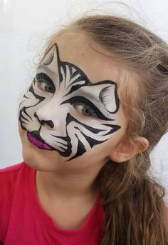 face painting ideas for kids Kitty Cat, Cat Face, Bengal Tiger, Face . Girl Face Painting, Face Painting Designs, Painting For Kids, Paint Designs, Face Painting Halloween Kids, Face Painting Tutorials, Girl Halloween, Animal Face Paintings, Animal Faces