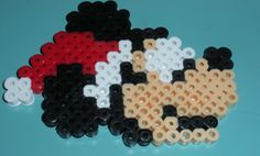 Perler Bead Christmas Mickey by AccessoriesbyAK on Etsy, $2.50